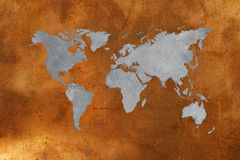 Bronze map Royalty Free Stock Photography