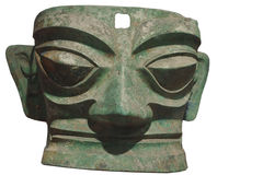 Bronze Mask Royalty Free Stock Images