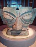 Bronze masks in Sanxingdui, China. ,close-up Royalty Free Stock Photography