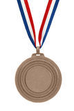 Bronze medal. With ribbon isolated Royalty Free Stock Photos