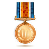 Bronze medal Royalty Free Stock Photo