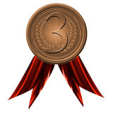 Bronze medal Stock Photography