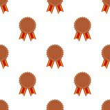 Bronze Medal Award Icon Seamless Pattern royalty free illustration