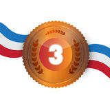 Bronze Medal, Award Royalty Free Stock Photography