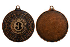 Bronze medal isolated on white background Stock Image