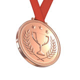 Bronze medal Royalty Free Stock Image