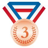 Bronze medal. 3rd place. Award ceremony icon. Bronze medal. 3rd place. Award ceremony Vector sport icon vector illustration