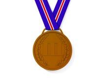 Bronze medal stock illustration