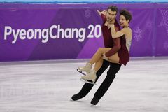 Bronze medalists  Meagan Duhamel and Eric Radford of Canada perform in the Pair Skating Free Skating at the 2018 Winter Olympics. GANGNEUNG, SOUTH KOREA Stock Photos
