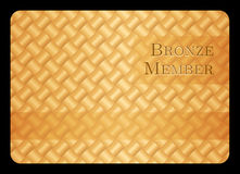 Bronze member card with diagonal crossing bar temp Stock Photos