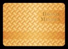 Bronze member card with diagonal crossing bar temp stock photos