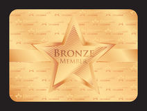 Bronze member club card with big star Stock Photo