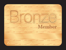 Bronze member club card with small stars pattern Stock Photos