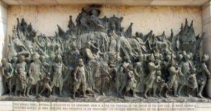 Bronze memorial panel at the Victoria Memorial building in Kolkata Stock Photos
