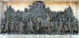 Bronze memorial panel at the Victoria Memorial building in Kolkata Stock Photo