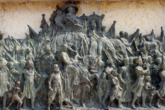 Bronze memorial panel at the Victoria Memorial in Kolkata Royalty Free Stock Photo