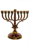 Bronze menorah Stock Images
