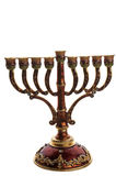 Bronze menorah Royalty Free Stock Image