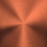 Bronze Metal Background with Circular Texture Stock Images