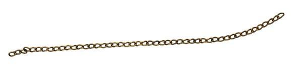 Bronze metal chain stock image