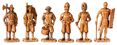 Bronze miniature statuettes Royalty Free Stock Image