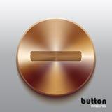 Bronze minus button Stock Images