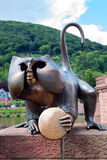 The bronze monkey sculpture Royalty Free Stock Image