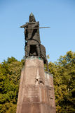 Bronze monument of grand duke Gediminas. Cathedral Square, Vilnius, Lithuania, Europe royalty free stock photography