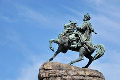 Bronze monument in Kiev Stock Photography