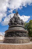 Bronze monument for Millennium of Russia in the Novgorod Kremlin Stock Photos