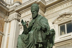 Bronze monument of Pope Sisto V, Loreto royalty free stock photography