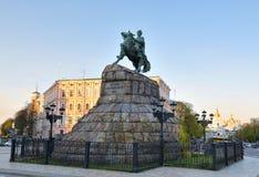 Bronze monument to Bogdan Khmelnytsky Stock Photo