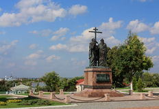 Bronze monument to Cyril and Methodius Stock Photo