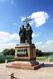 Bronze monument to Cyril and Methodius Stock Images