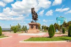 Bronze monument to the founder of Samara -  Prince Grigory Zasek. Samara, Russia - September 4, 2016: Bronze monument to the founder of Samara -  Prince Grigory Stock Images