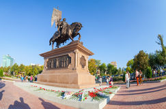 Bronze monument to the founder of Samara Prince Grigory Zasekin Stock Images