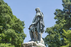Bronze monument  to Giuseppe Garibaldi in the Public Gardens Castello Royalty Free Stock Photo