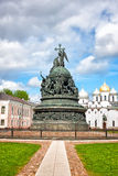 Bronze monument to the Millennium of Russia Stock Image
