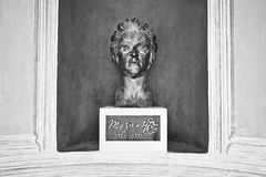 Bronze monument to Mozart in Kurpark Royalty Free Stock Photo