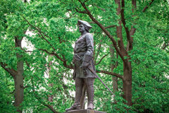 The bronze monument to Peter I The Great in the lower park of Peterhof. Saint-Petersburg, Russia Royalty Free Stock Images
