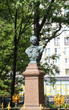 Bronze monument to Russian emperor Peter I in St. Petersburg Stock Image