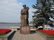 Bronze monument to Vasily Margelov Stock Images