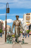 Bronze monument Uncle Stepa-militiaman in Samara, Russia Stock Images