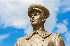 Bronze monument Uncle Stepa-militiaman in Samara, Russia Royalty Free Stock Photos