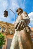 Bronze monument Uncle Stepa-militiaman in Samara, Russia Royalty Free Stock Images