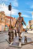 Bronze monument Uncle Stepa-militiaman Stock Photography