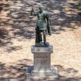 Bronze monumental statue of the Imperator Caesar Augustus Hadrian stock photos