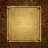 Bronze nameplate Royalty Free Stock Photography