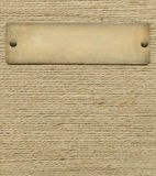 Bronze nameplate Stock Photo