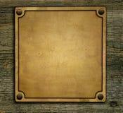 Bronze nameplate Royalty Free Stock Photo